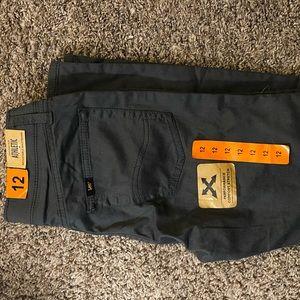 Boys navy khaki pants size 12